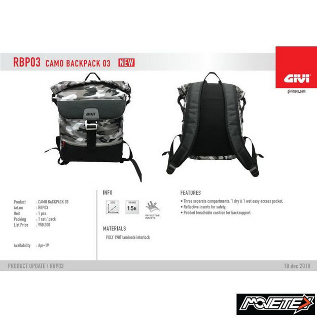 Picture of Givi RBP03 Rider Tech Camo Backpack