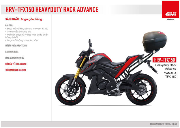 Picture of Givi Rear Bracket for Yamha TFX 150