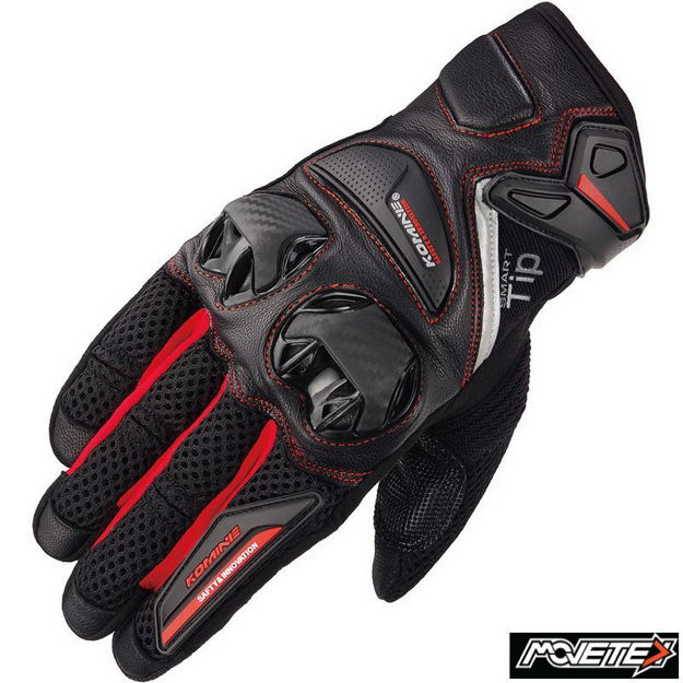 Picture of Komine GK234 Protect Leather Mesh Gloves